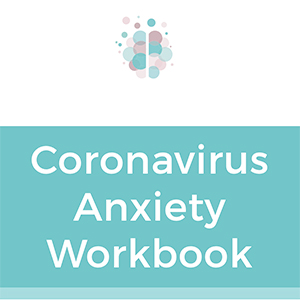 Image of the cover of the Coronavirus Anxiety Workbook