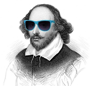 Shakespeare with glasses