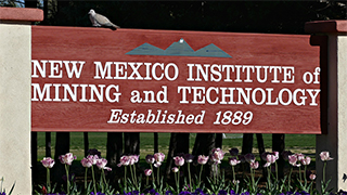 Image of the NMT Entry Sign
