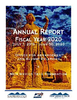 Advancement FY2019 Annual Report Cover